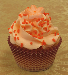 zesty orange cupcake