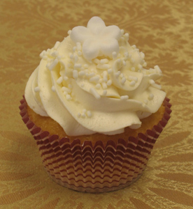 banana cream cheese cupcake