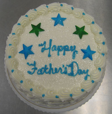 Father's Day Round Cake
